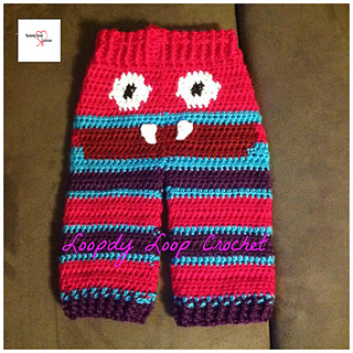 Crochet Pattern Baby Monster Pants : Ravelry: Tylers Monster Pants pattern by Loopdy Loop Crochet