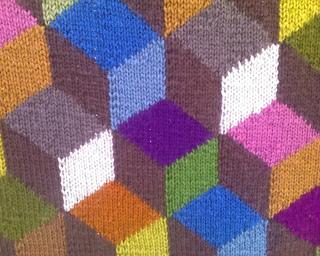Ravelry Tumbling Blocks Throw 10266 14 Colors Pattern