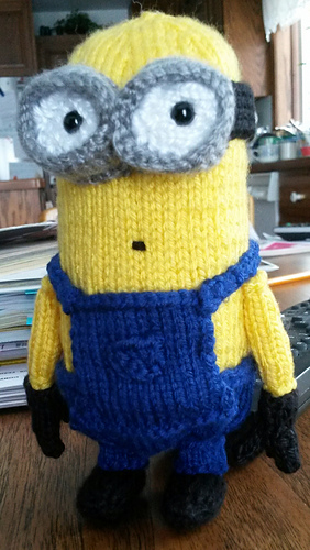 Free Knitting Pattern For Minion Blanket : Ravelry: Knitted Minion pattern by Alexandria Batista
