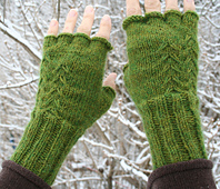 Fern Fingerless Gloves PDF