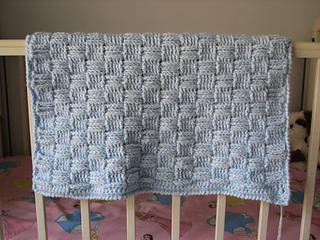 Ravelry: Preemie Basketweave Baby Blanket pattern by ...