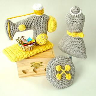 Ravelry: Amigurumi Sewing Room pattern by Amiguria Amigurumi