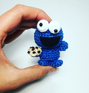Amigurumi Cookie Monster Pattern : Ravelry: Amigurumi Tiny Cookie Monster pattern by AmyMamy ...