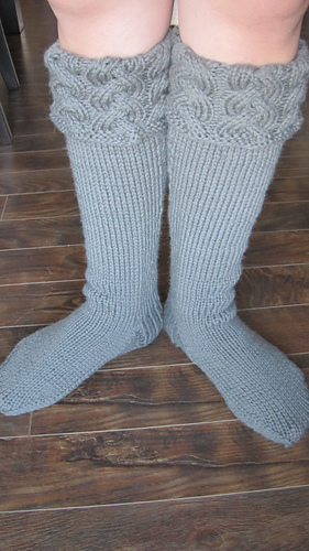 Free Knitting Pattern For Welly Socks : Ravelry: Wonderfully Warm Wellies pattern by AndreaJP