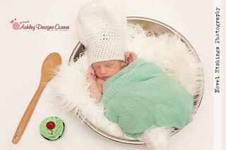 Crochet Pattern Chef Hat : Ravelry: Chef Hat (Newborn - Adult) pattern by Ashley Designs