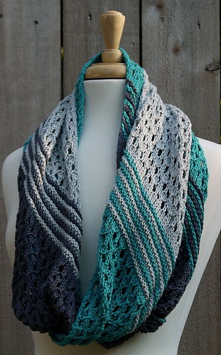 Infinity Scarf Knitting Pattern Ravelry : Ravelry: Secret Beach Infinity Scarf pattern by Maggie Murphy