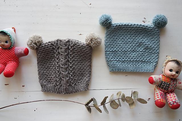 patron gratuit de tuque tricotée mishka par Emilie Luis