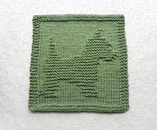 Knitting Pattern Westie Dog : Ravelry: Knitted Yorkie / Westie Dog Dishcloth pattern by ...