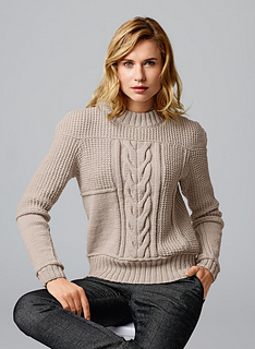 Central Knitting Pattern Library : Ravelry: 101 Pull a torsade centrale pattern by Bergere de France