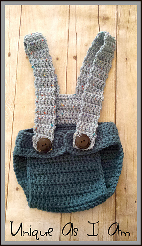 Ravelry: Adrian Diaper Cover with Suspenders pattern by ...