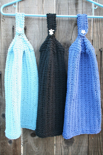 Free Knitted Hanging Dish Towel Patterns : Ravelry: Columns Kitchen Hanging Towel pattern by Cathy Waldie