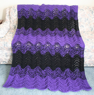 Fan And Feather Afghan Knitting Pattern : Ravelry: Quick Knit Feather and Fan Afghan pattern by Cathy Waldie