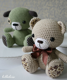 Ravelry: Amigurumi cuties - bunny, puppy and teddy pattern ...