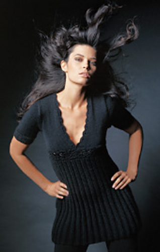 ravelry 15 empire style mini dress pattern by lana grossa. Black Bedroom Furniture Sets. Home Design Ideas