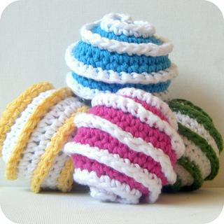 Free Crochet Pattern Cat Toys : Ravelry: Toy Ball Crochet Pattern Galaxy Spiral Prototypes ...