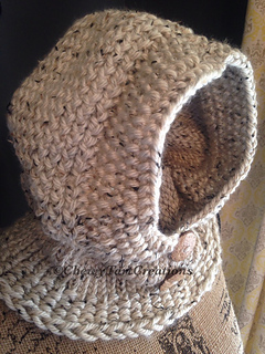 Hooded Cowl Knitting Pattern Ravelry : Ravelry: Adult Cozy Hooded Cowl Loom Knit pattern by Chewy Tart