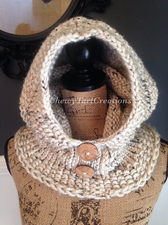 Ravelry Adult Cozy Hooded Cowl Loom Knit Pattern By Chewy