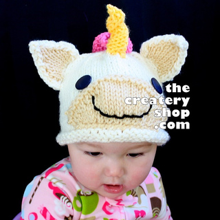 Knitting Pattern For Unicorn Hat : Ravelry: Unicorn Animal Hat pattern by Createry Shop