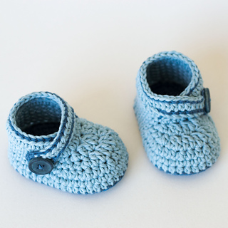 Ravelry: Crochet Baby Booties - Blue Whale pattern by ...