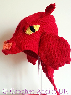Ravelry Dragon Hat 1 Yr Pattern By Crochet Addictuk