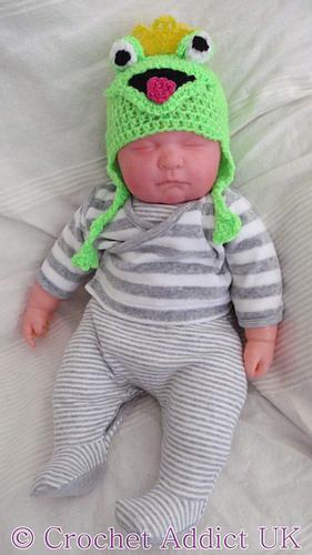 Ravelry: Frog Ear Flap Hat Newborn - 12 Months pattern by ...
