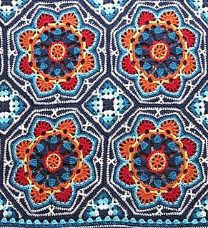 Ravelry Persian Tile Blanket Pattern By Jane Crowfoot