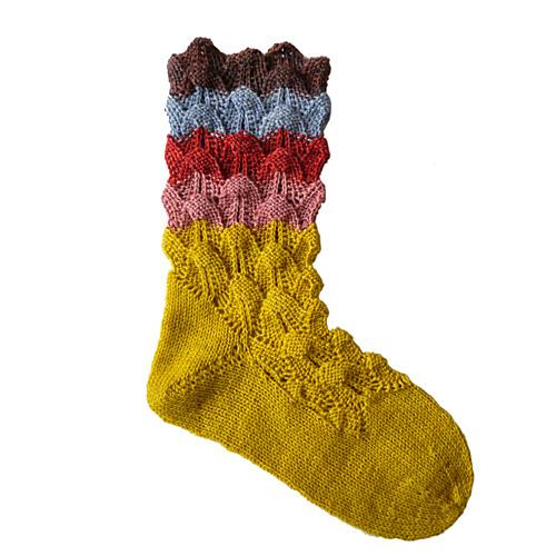 bas tricotés avec dentelle Huppelsokken by Evelien Verkerk