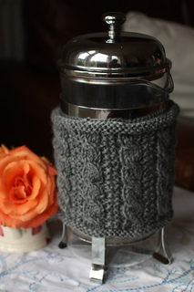 Coffee Pot Cosy Knitting Pattern : Ravelry: Cable Cafetiere Cosy pattern by Emma Varnam