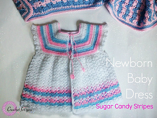 af8a9b40d Craft Passions  Newborn Baby dress Free crochet pattern link here