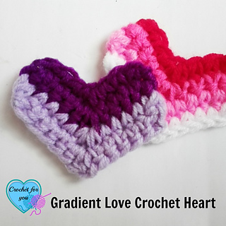 Ravelry: Gradient Love Heart / Necklace pattern by Erangi ...
