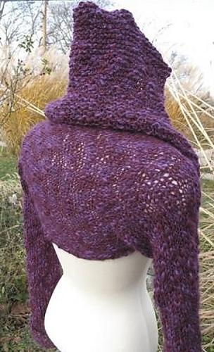 Knitting Pattern For Shrug With Hood : Ravelry: Asana Hoodie Shrug pattern by JoAnne Gerwe