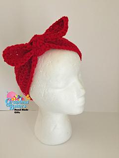 Ravelry Rosie The Riveter Headband Pattern By Gramma Beans
