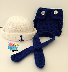 Ravelry My Little Sailor Hat Amp Diaper Cover Pattern By