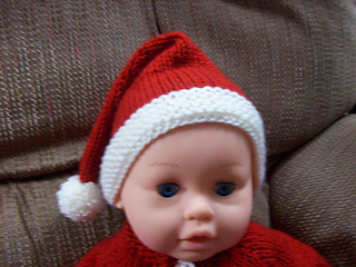5 Ply Knitting Patterns : Ravelry: Newborn Santa Hat pattern by Nancy Pietraszek