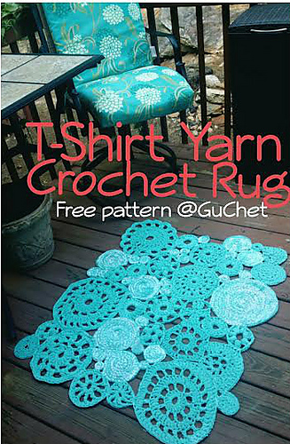 Free Crochet Patterns Tshirt Yarn : Ravelry: T-Shirt Yarn Rug pattern by GuChet