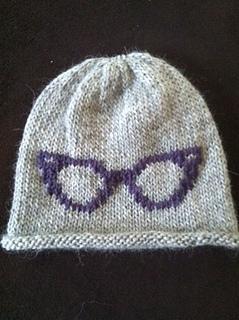 ravelry retro eye glasses knit chart pattern by kristin