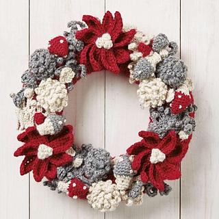 Ravelry Festive Wreath Pattern By Hannah Cross