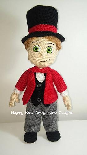 Amigurumi Crochet Designers : Ravelry: Hocus Pocus Magician Boy Doll pattern by Happy ...