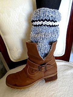 Ravelry 898 Grey Striped Knit Legwarmers Pattern By Emi