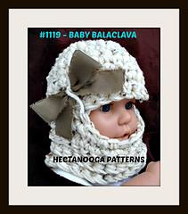 Ravelry: 1119- BABY Ski Mask hat pattern by Emi Harrington