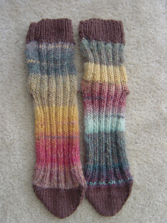 Ravelry: Two at a time tube knitted tube socks on two needles pattern by Heid...