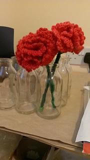 Crochet Flower Pattern Rose By Rachel Choi : Ravelry: Carnations pattern by Rachel Choi