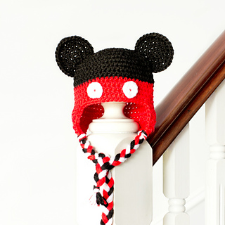 Free Crochet Pattern Mickey Hat : Ravelry: Mickey Mouse Inspired Baby Hat pattern by Olivia Kent