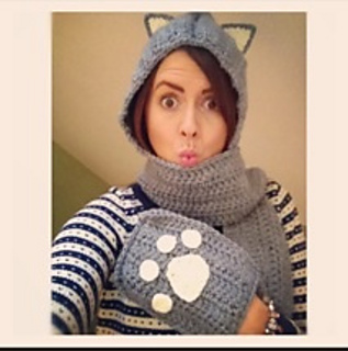 Craft Passions: Cuddly Cat Crochet Scoodie with Pockets ...