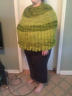 Insanity Blanket Knitting Pattern : Ravelry: Top Down Poncho pattern by Invisible Insanity