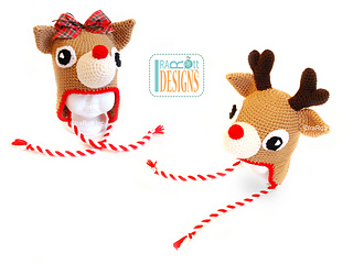 Free Reindeer Hat Crochet Pattern For Dogs : Ravelry: Blizzard the Reindeer Hat pattern by Ira Rott