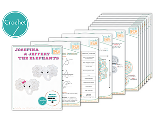 Ravelry: Josefina and Jeffery Elephant Rug pattern by Ira Rott