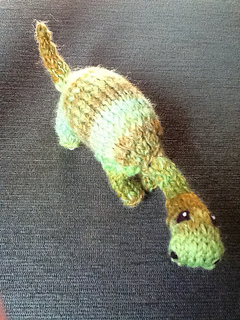 Mini Dinosaur Knitting Pattern : Ravelry: Handspun Mini Dinosaur pattern by Joanna Stephens