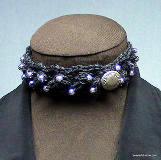 Puff-stitch-choker-with-beads_small2