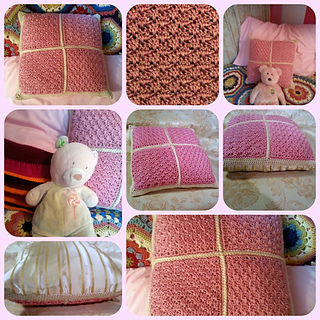 Free Crochet Patterns For Small Pillows : Ravelry: Little Fans Pillow Cover pattern by Jessie Rayot